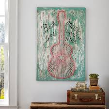 Interior Design Wall Hangings by Junk Gypsy Be The Music You Hear Wall Art Pbteen