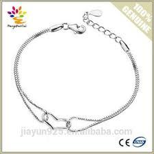white gold plated charm bracelet images Simple design silver bracelet wholesale heart box silver chain jpg