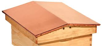 8 frame gable roof hive cover copper kelley beekeeping