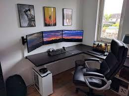 Desk Setup Astonishing Computer Gaming Set Up Enchanting Desk Setup Ideas
