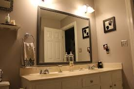 how to frame mirror in bathroom framed bathroom mirrors also small bathroom mirror with lights