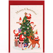 images of christmas letters cute santa claus christmas tree glitter letter postcard from japan