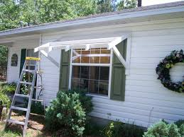 How To Build A Wood Awning Over A Deck Yawning Over Your Awning Diy Awnings On The Cheap Home Fixated