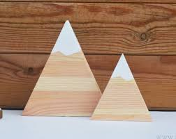 wooden mountains etsy