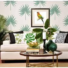 Stencils For Home Decor Palm Leaf Tropical Wall Stencil Trendy Stencils For Diy Home Decor