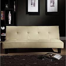 Modern Futon Sofa Bed Tribecca Home Bento Beige Faux Leather Modern Mini