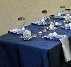 navy blue table linens pintuck navy blue table linen with silver satin napkins will bring