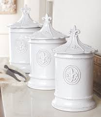 dillards kitchen canisters mud pie fleur de lis glazed terracotta canisters set of 3 home