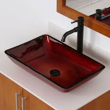 7002 elite illusion burgundy design tempered glass bathroom vessel