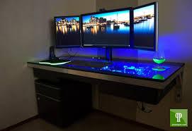 Glass Gaming Desk by Elegant Gaming Desk Setup Ideas With Pc Gaming Desk Setup Desk