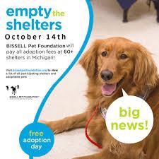 empty the shelter adoption event upper peninsula animal welfare