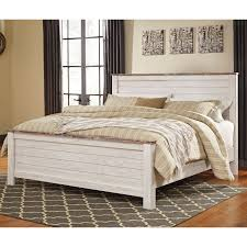 ashley furniture willowton queen panel bed in whitewash local