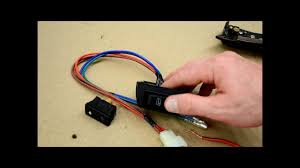 how to wire door lock and power window switches youtube
