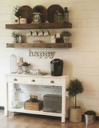 Reclaimed Wood Floating Shelves by Make That Bar Area A Coffee Station With Reclaimed Wood Floating