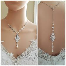 bridal necklace jewelry images Rose gold backdrop necklace rose gold bridal necklace wedding jpg