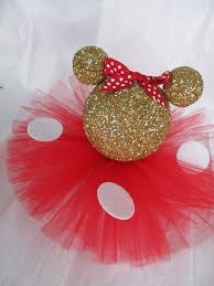 gold minnie mouse glitter table centerpiece birthday party baby