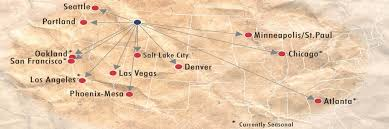 Allegiant Air Route Map Non Stop Destinations U2013 Missoula International Airport
