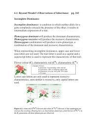 6 1 beyond mendel u0027s observations of inheritance pg 242
