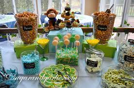 Baby Shower Candy Buffet Pictures by Little Monkey Baby Shower Baby Boy Shower