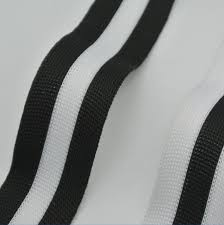 black and white striped ribbon 10mm 15mm 20mm 25mm 75yards lot polyester woven webbing ribbon