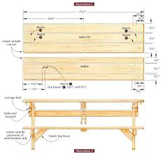 Picnic Table Plans Free Separate Benches by Picnic Table With Detached Benches Plans Bench Decoration