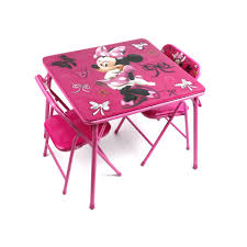 Mickey Mouse Kids Table And Chairs Disney Minnie Mouse First Fashionista Activity Table Set Walmart Com