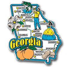 Facts About Georgia State Flag Georgia Souvenir Magnets Classic Magnets