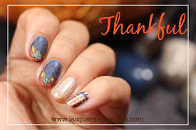step by step nail thursday fall leaves and pumpkins