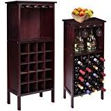 amazon com kings brand furniture wood buffet wine rack cabinet