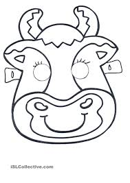 click on the image to download and print this cute cow mask for