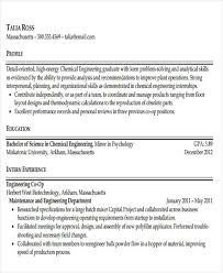 Chemical Engineer Resume Examples by 47 Engineering Resume Samples Free U0026 Premium Templates