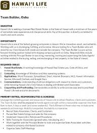 Real Estate Resume Templates Free Surprising Real Estate Agent Job Description For Resume 82 With