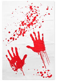 bloody hands shower curtain sourpuss clothing