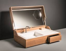 Bathroom In A Box | bathroom sink in a box hidden by makro