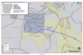 State Of Arkansas Map Highway 549 Benton County Connecting Arkansas Program