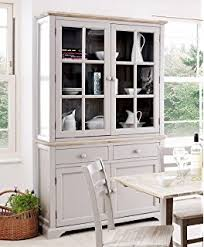 Florence Display Cabinet Solidly Built White Glass Dresser With 2