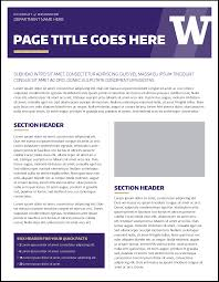 fact sheet uw brand