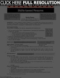 Skills Based Resume Example Cover Letter Skill Set Resume Examples Skill Set On Resume