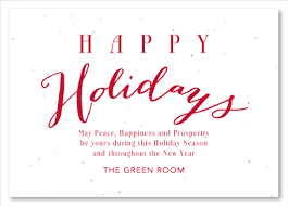 green cards on seeded paper greetings by green