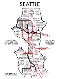 Seattle Monorail Map by 8 Maps That Show Each City By Stereotype City Maps Buzzfeed And