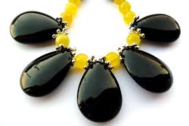 yellow gemstone necklace images Happiness is a black and yellow necklace big skies jewellery jpg