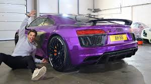 audi r8 tanner braungardt my audi r8 reveal craziest wrap ever youtube