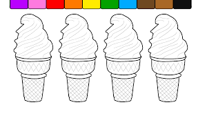 learn colors for kids and color this fun soft ice cream coloring