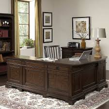 andover executive desk with return file cabinet and chair