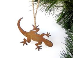lizard ornament etsy