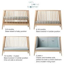 Natural Crib Mattress by Leander Crib Leander Collection 4 In 1 Convertible Crib In