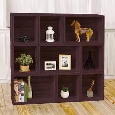 Altra Ladder Bookcase by Altra Furniture Tiffany Espresso Ladder Bookcase 9802196 The