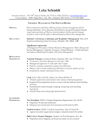 Manager Experience Resume Cook Resume Summary Resume For Your Job Application