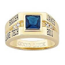 square rings jewelry images Men 39 s yellow celebrium square stone cz class ring 38251 jpg