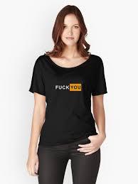 Fuckyou Meme - fuck you pornhub box logo funny meme parody women s relaxed fit t